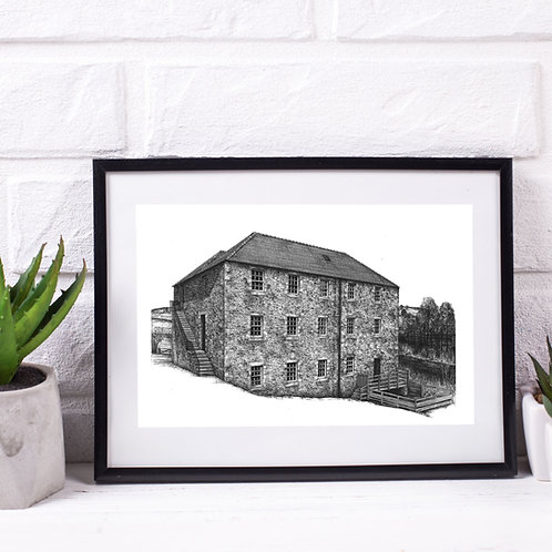 Heatherlaw Mill, Northumberland - Original Drawing
