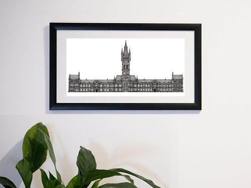 Glasgow University (Gilbert Scott Building) - Print