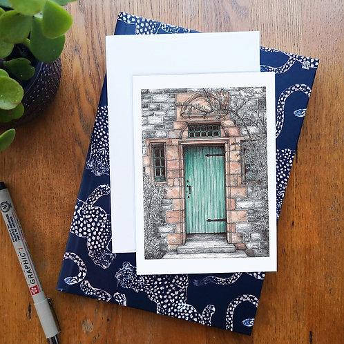 Dean Village Door A6 Greetings Card