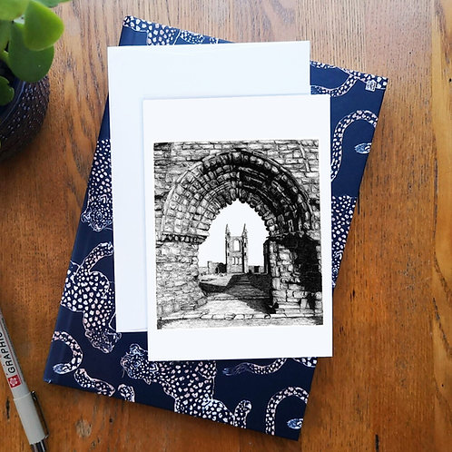St Andrews Cathedral A6 Greetings Card