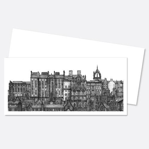 Old Town Skyline Greetings Card