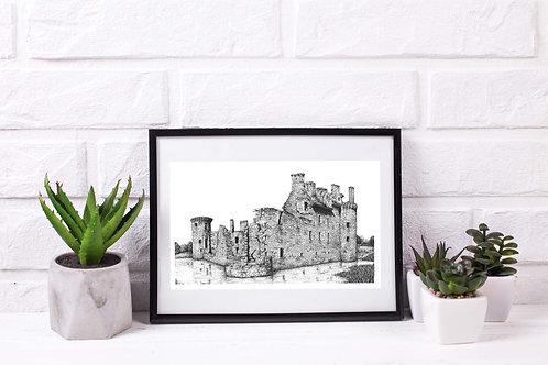 Caerlaverock Castle, Dumfries - Original Drawing