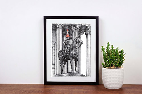 Duke of Wellington Monument with cone, Glasgow