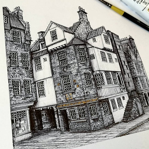 John Knox House, Edinburgh - Original Drawing
