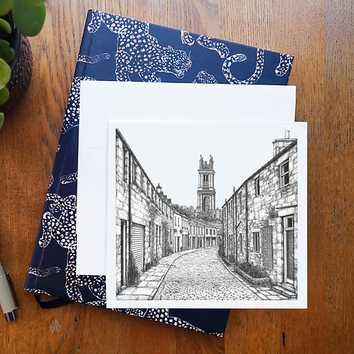 Circus Lane, Edinburgh - Greetings Card