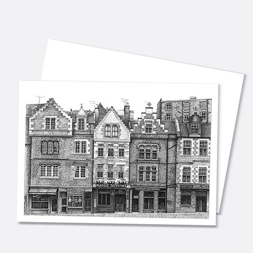 Grassmarket, Edinburgh A6 Greetings Card