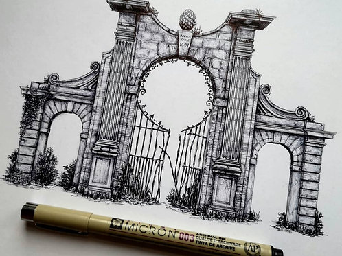 Haltoun House Gateway, Edinburgh - Original Drawing