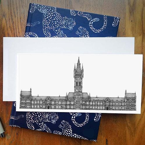 Glasgow University - Greetings Card