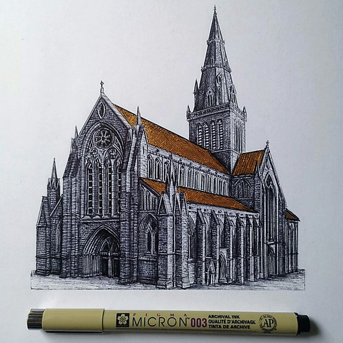 Glasgow Cathedral - Original Drawing