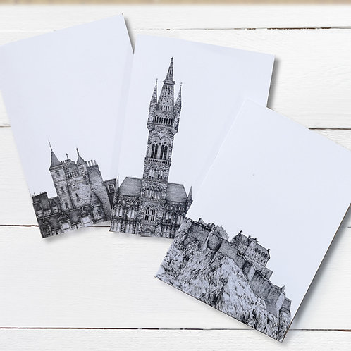 Set of 3 A6 Jotters - Edinburgh Scenes