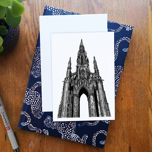 Scott Monument A6 Greetings Card