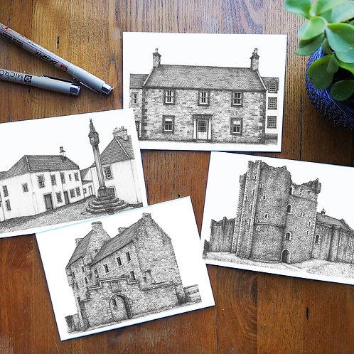 Set of 4 'Outlander' Greetings Cards