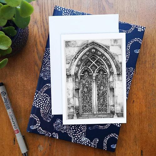 Rosslyn Chapel Window A6 Greetings Card