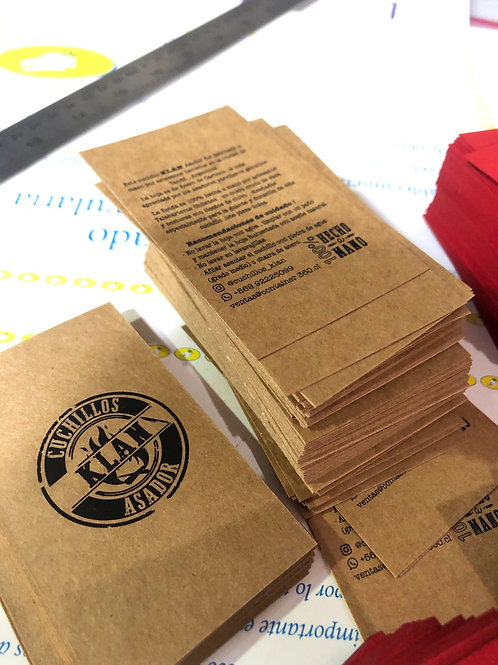 Tarjetas en papel kraft