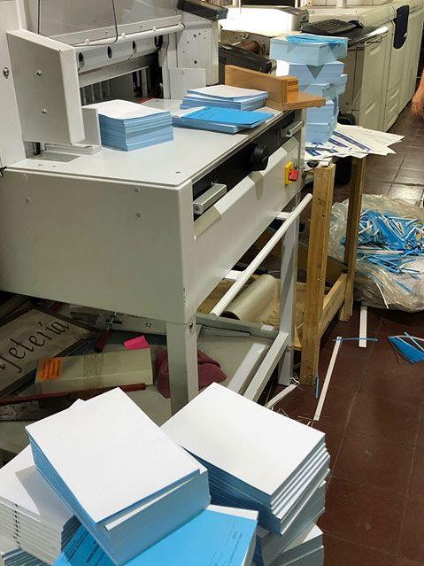 corte guillotina papel