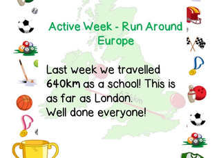 Run Around Europe for Active Week