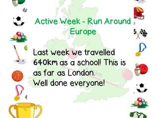 Run Around Europe for Active Week