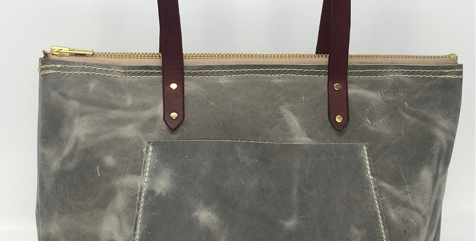 Grey Pull Up Tote
