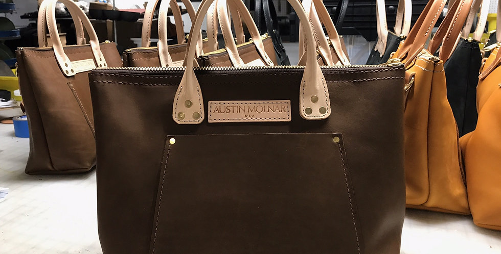 The Hollis Tote - Chocolate