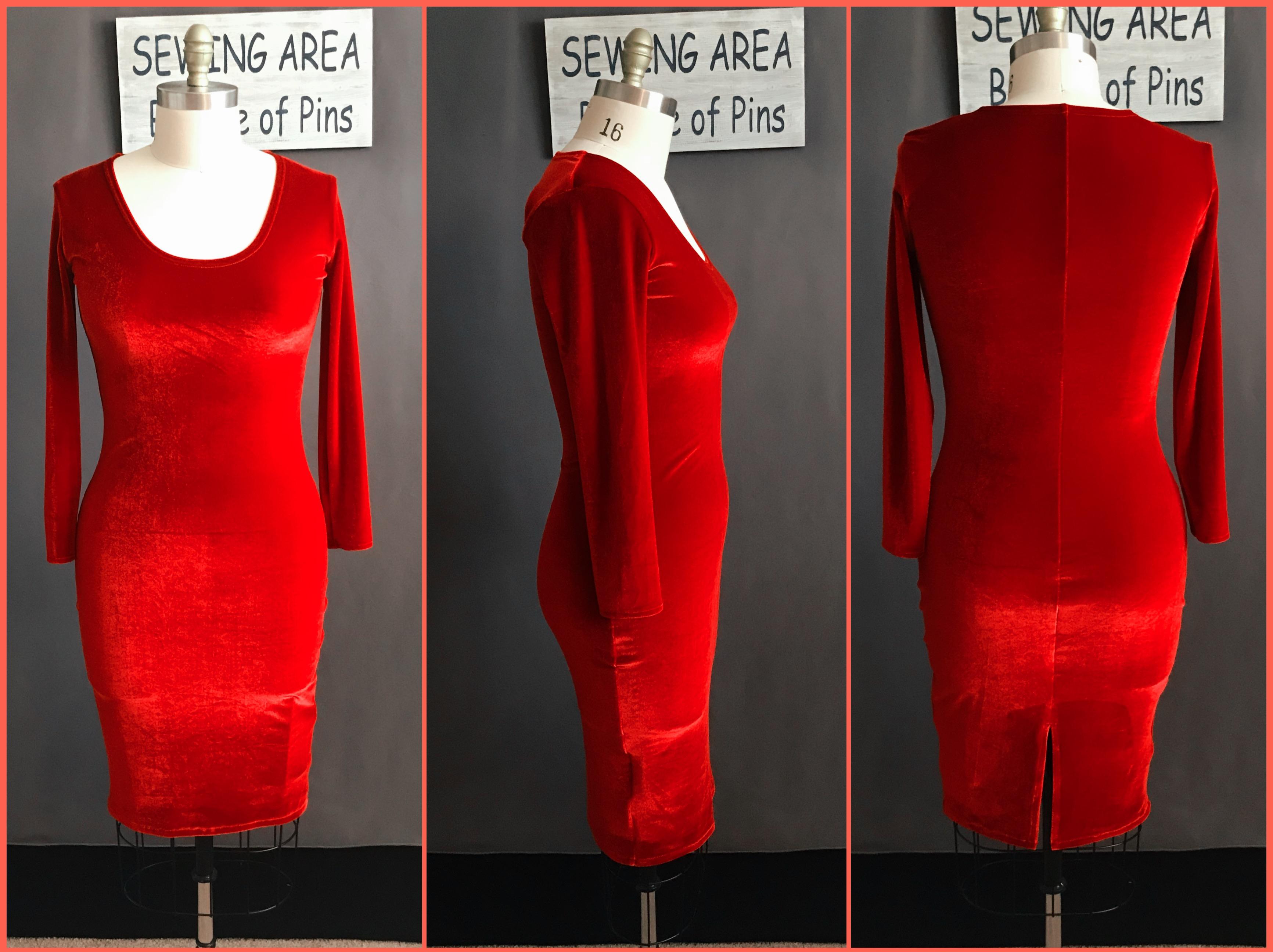 custom velvet dress