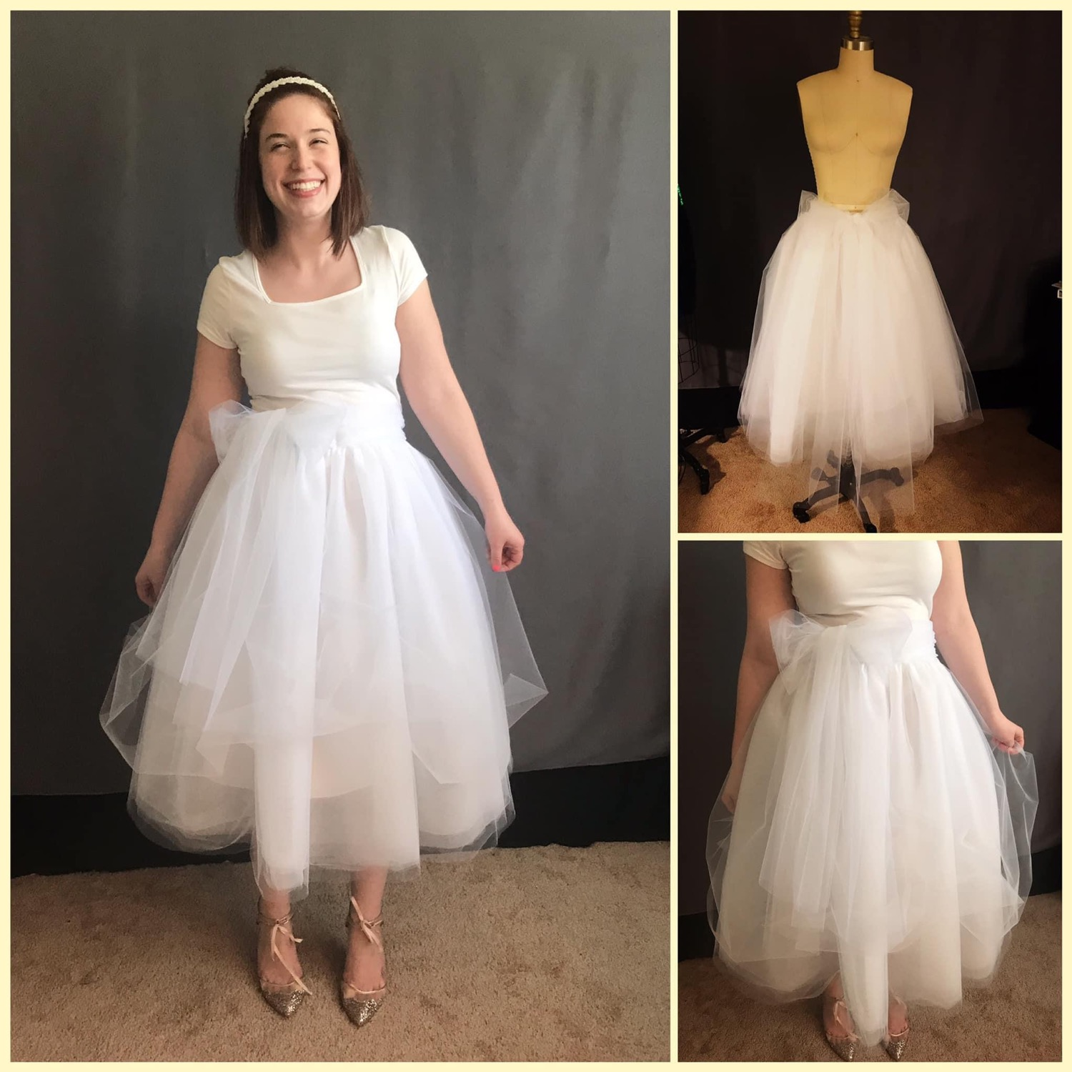 custom made wedding skirt by seamstress Lena in Orlando