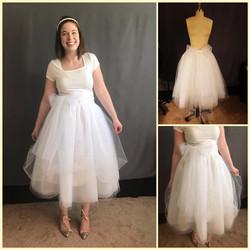 custom made wedding skirt by seamstress Lena in Orlando