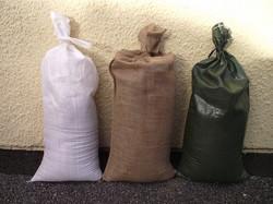 Filled Hessian Sandbags
