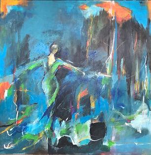 Maleri til Rudersdal kunstnernes brochur