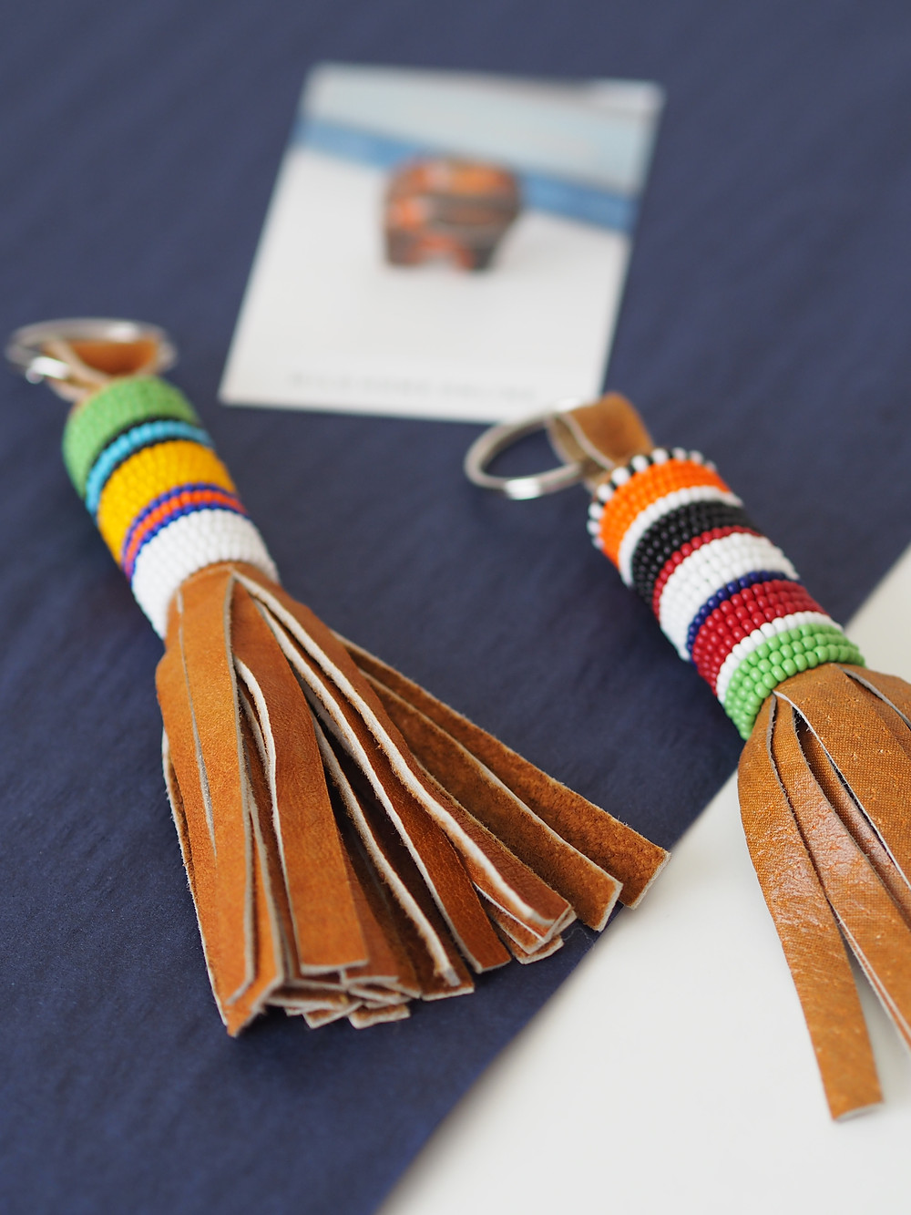 Perfect father's day presents - leather beaded tassel keyrings from Wild Home Online on Etsy.