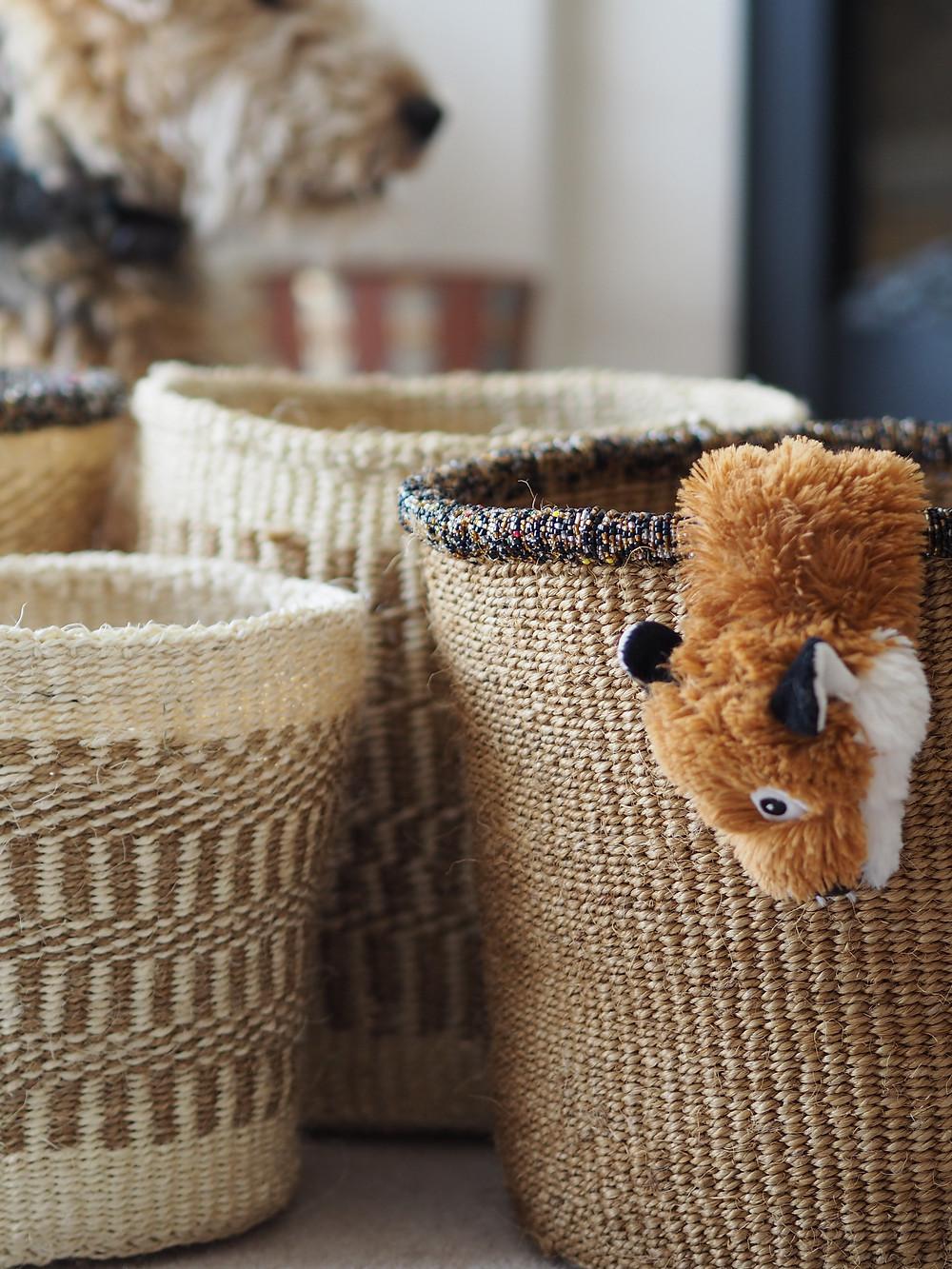 Beautiful handmade baskets from Wild Home Online.