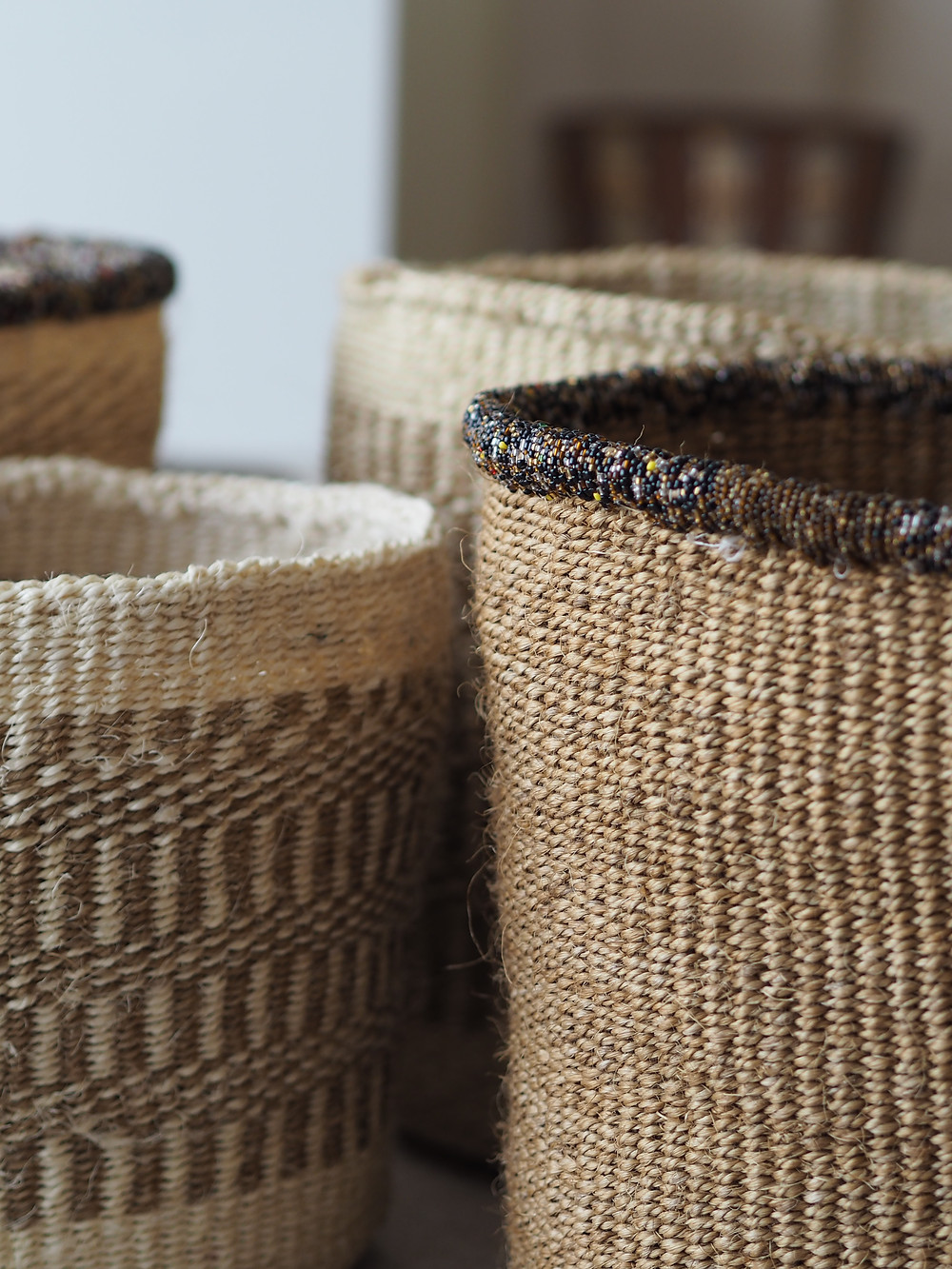 Our handmade baskets in deliciously natural colours.