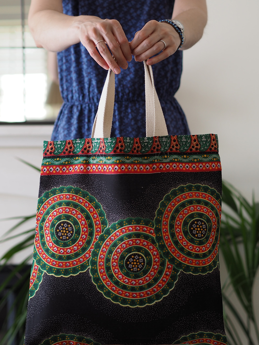 beautiful kenyan kitenge fabric bag
