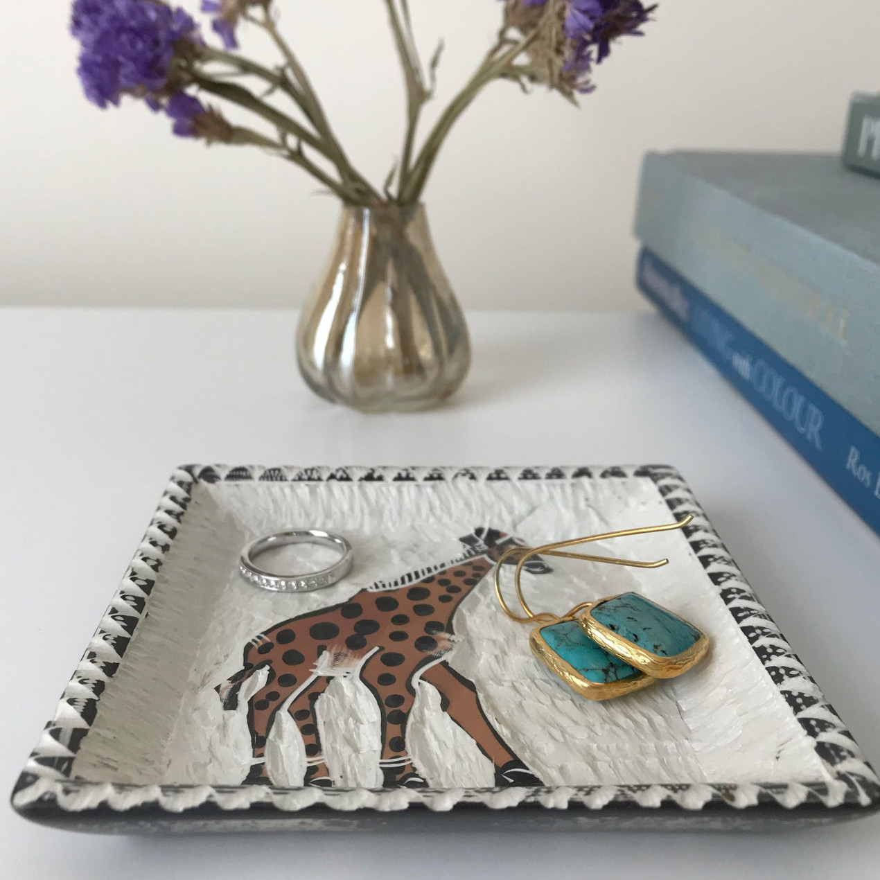 Kenyan soapstone tray from wild home online