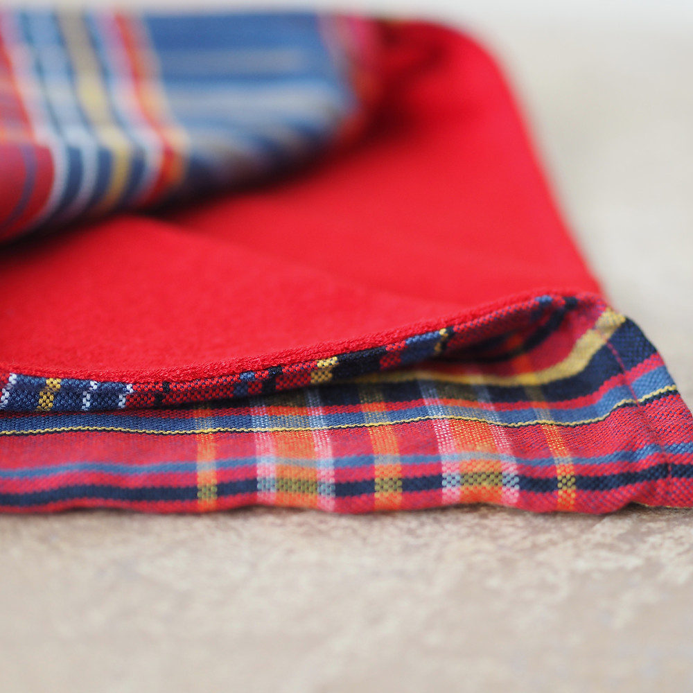 Kenyan kikoy and flannel baby towel. Available to buy at Wild Home Online on Etsy.