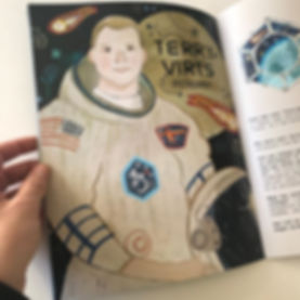 My spacey illustrations are in issue 5 o