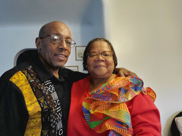 Brother Milton Carson and his Queenbee Deaconess Cheryl.