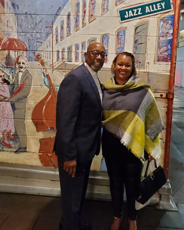 Assistant Pastor Amos Atkinson Jr. shares his talented wife of 22 years, Calvary's Music Director, Dana