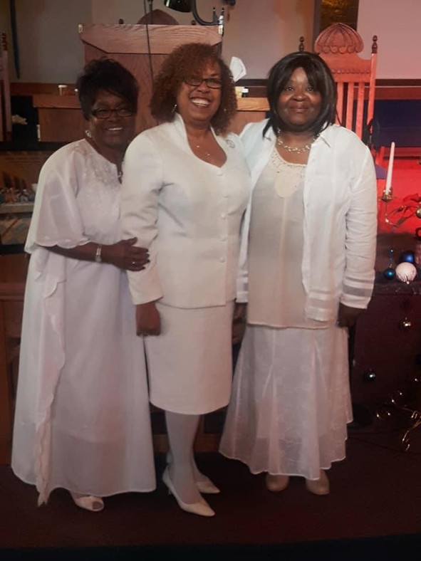 Deaconess Peggie Troutt, Missionary Jacquelyn Harris, & Missionary Sheila Clark