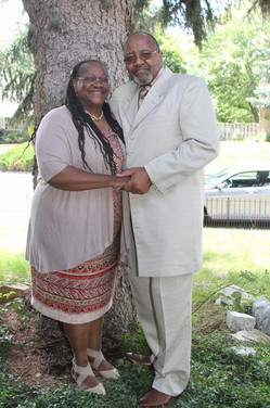 Bro. Thomas Johnson Sr. clings to his devoted wife Deaconess Carolyn