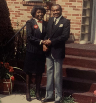 The Beloved Brother Felton Dumas Jr. clings to his devoted wife Betty Dumas.