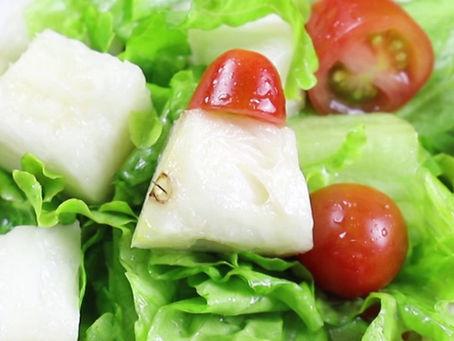 Salada de abacaxi e alface