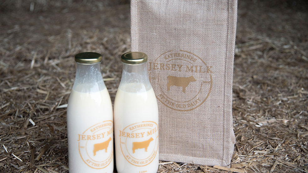 Katherines Jersey Milk Jute Bag