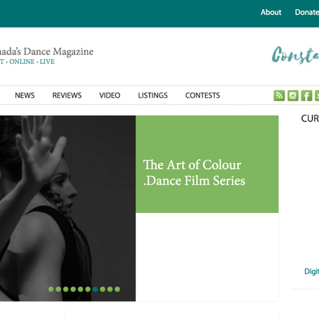 The Art of Colour .Dance featured on The Dance Current!