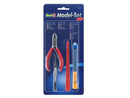 Model-Set Plus - Jogo de ferramentas - Alicate, pinça, lixa, estilete - Revell