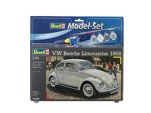 Kit para montar Model Set Volkswagen Fusca Beetle Limousine 1968 - 1/24 Revell