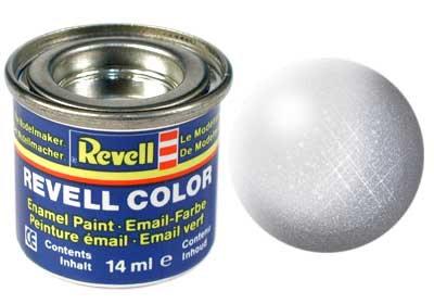 Tinta Revell para plastimodelismo - Esmalte sintético - Alumínio metáli