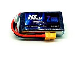 2S Bateria de LiPo 7,4V 850mAh 30C JST - ZeeE