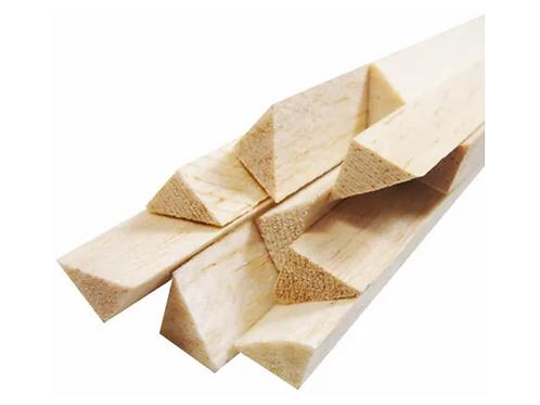 Vareta Triangular de Madeira Balsa 10MM x 10MM x 930MM