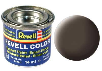 Tinta Revell para plastimodelismo - Esmalte sintético - Marrom couro 14ml -Revel
