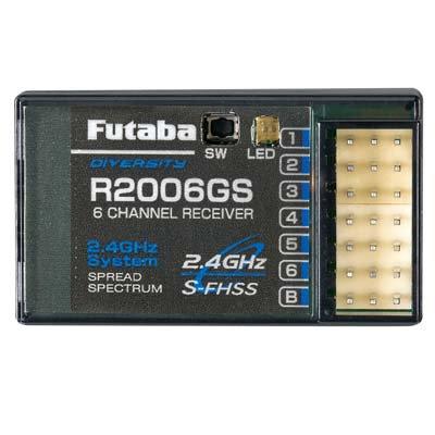 Receptor Futaba R2006GS 2.4GHz S-FHSS 6 canais (cód.antigo FUT L7606)